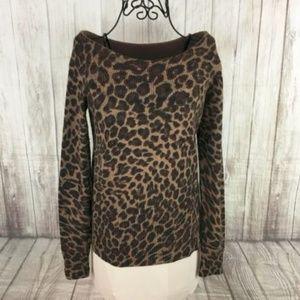I.N.C. Women's Angora Animal Print Sweater Medium